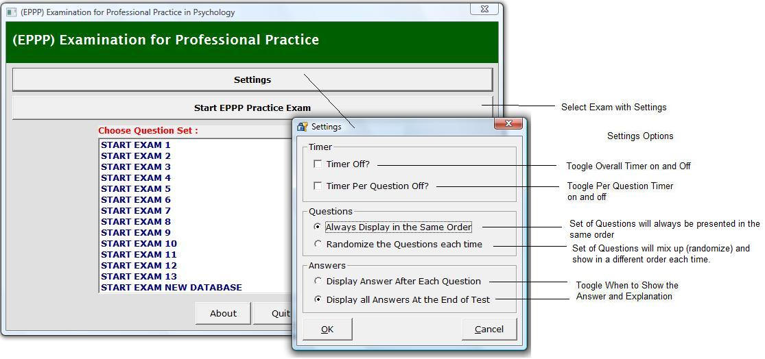 EPPP Exam - EPPP Exam, EPPP Study Materials, EPPP Practice Test Paper, Psychology Licensing  - Our EPPP Exam Simulation Software is easy to install on your computer